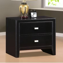 "Hester ""Black"" 2-Drawer Nightstand"