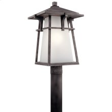 Beckett 1 Light Post Mount with LED Bulb Weathered Zinc