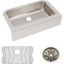 "Elkay Lustertone Classic Stainless Steel 33"" x 20-1/2"" x 8"", Single Bowl Farmhouse Sink Kit"