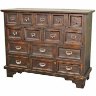 Tuscany Chest w/ 15 Drawers, Distressed Black