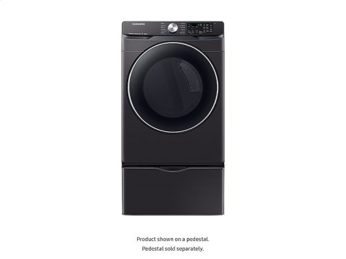 DV6300 7.5 cu. ft. Smart Gas Dryer with Steam Sanitize+ in Black Stainless Steel