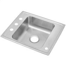 "Elkay Lustertone Classic Stainless Steel 25"" x 22"" x 7-5/8"", Single Bowl Drop-in Classroom Sink"