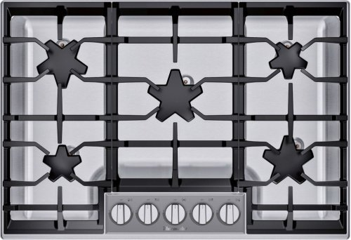 "30"" 5 Burner Gas Cooktop, Pedestal, SS"