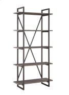 "Emerald Home Atari Bookshelf 36"" W/5 Shelves Metal Frame, Antique Grey Shelves Ac330-36 Product Image"