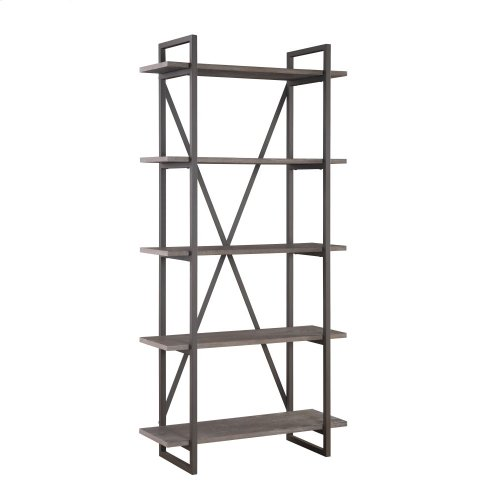 Emerald Home Atari Bookshelf 36 W 5 Shelves Metal Frame Antique Grey