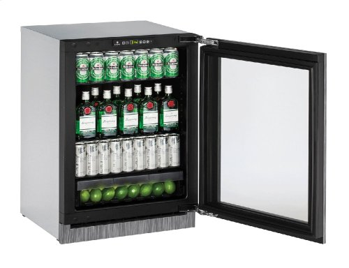 "2000 Series 24"" Glass Door Refrigerator With Integrated Frame Finish and Field Reversible Door Swing (115 Volts / 60 Hz)"