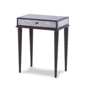 Axis Mirrored Accent Table - Walnut