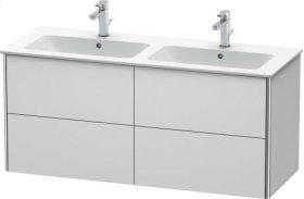 Vanity Unit Wall-mounted, White Satin Matt Lacquer