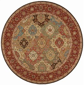 LIVING TREASURES LI03 MTC ROUND RUG 7'10'' x 7'10''