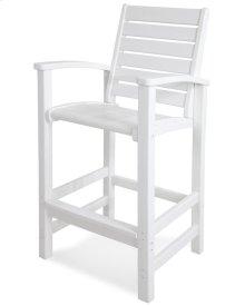 White Signature Bar Chair