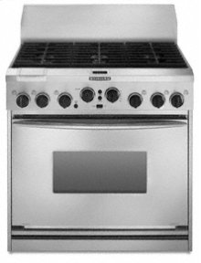 "36"" Width 6 Burners Stainless Steel Cooktop Dual Fuel True Convection Oven Architect® Series Freestanding"