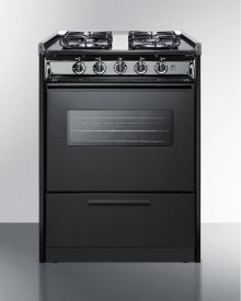 "24"" Wide Slide-in Gas Range In White With Sealed Burners, Oven Window, Light, and Electronic Ignition; Replaces Tnm616rw"