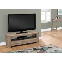 """TV STAND - 48""""L / DARK TAUPE WITH 2 STORAGE DRAWERS"""