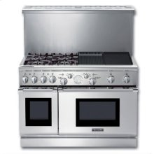 """48"""" PRO GRAND® ALL-GAS LP RANGE W/ 4 STAR® BURNERS (2 W/ EXTRALOW®) ELECTRIC GRIDDLE & GAS GRILL"""