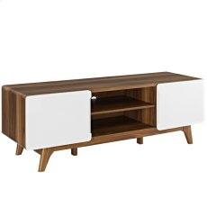 """Tread 59"""" TV Stand in Walnut White Product Image"""