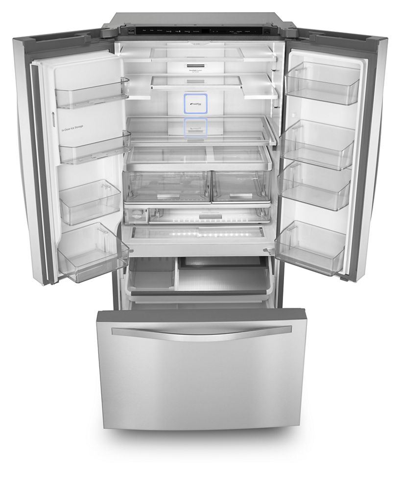 Charmant Hidden · Additional 36 Inch Wide French Door Refrigerator With Infinity  Slide Shelf   32 Cu.