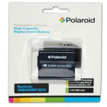 Polaroid High Capacity Panasonic DU14 Rechargeable Lithium Replacement Battery