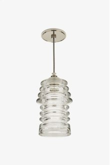 Watt Ceiling Mounted Pendant with Ribbed Glass Shade STYLE: WLLT04
