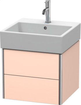 Vanity Unit Wall-mounted, Apricot Pearl Satin Matt Lacquer