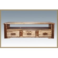 Homestead Sitting Chest / Entertainment Center - Stained and Lacquered