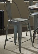 Bow Back Counter Chair - Green (RTA) Product Image