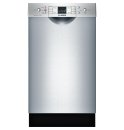 18' Special Application Recessed Handle Dishwasher 300 Series- Stainless steel