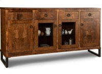 Cumberland Sideboard w/2 Wood Doors &2/Center Glass Door &4/Dwrs & 2/Wood & Glass Adjust. Product Image