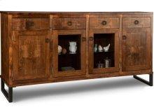 Cumberland Sideboard w/2 Wood Doors &2/Center Glass Door &4/Dwrs & 2/Wood & Glass Adjust.