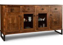 Cumberland Sideboard w/2 Wood Doors &2/Center Glass Door &4/Dwrs & 2/Wood & Glass Adjust.