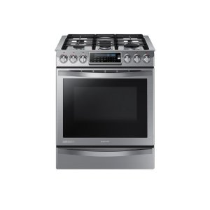 SAMSUNG5.8 cu. ft. Slide-in Gas Chef Collection Range with True Convection
