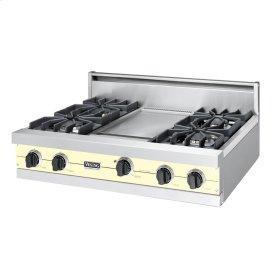 """Lemonade 36"""" Sealed Burner Rangetop - VGRT (36"""" wide, four burners 12"""" wide griddle/simmer plate)"""