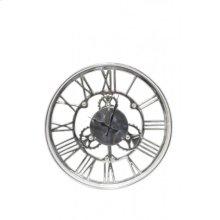 Clock 46 cm SIGN nickel+glass