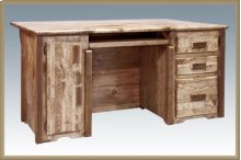 Homestead Executive Computer Desk - Stained and Lacquered