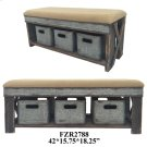 "42X15.75X18.25"" STOOL W/ 3 BOXES, 1 PC PK, 8.67' Product Image"