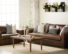 Southern Sown Cocoa Leather Living Room