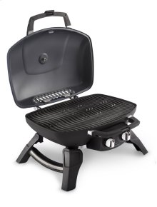 TravelQ 285 Red Portable Gas Grill with Griddle