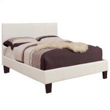 "Volt 54"" Double Platform Bed in White"