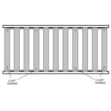 Twin Bed Slat System (11 Slats Total)