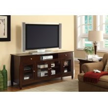 Casual Walnut TV Console With Connect-it Power Drawer