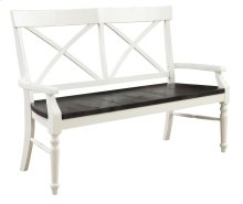 Mountain Retreat - X-back Bench W/wood Seat