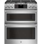 """GE Cafe™ Series 30"""" Slide-In Front Control Gas Double Oven with Convection Range Product Image"""