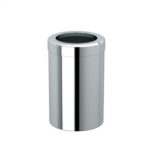 Round Modern Waste Can in Chrome Product Image