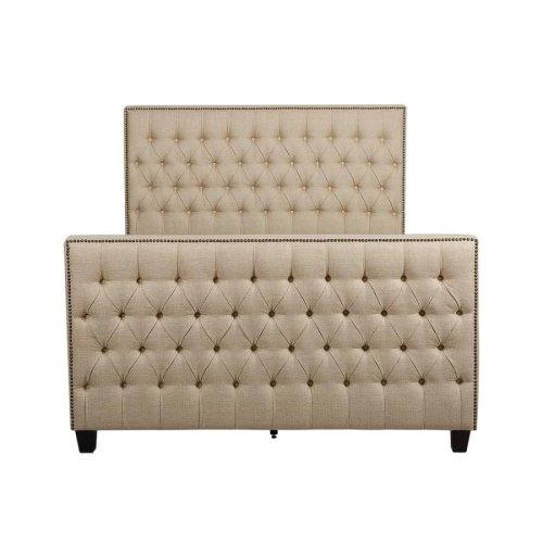 Saratoga Oatmeal Upholstered Full Bed
