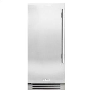 True Residential15 Inch Solid Stainless Door Left Hinge Clear Ice Machine