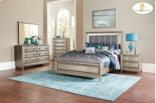 HOMELELGANCE 1839-1-9 Hedy Queen Bed, Dresser, Mirror, Night Stand & Chest Group