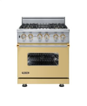 """30"""" Custom Sealed Burner Self-Cleaning Range, Natural Gas, Brass Accent"""