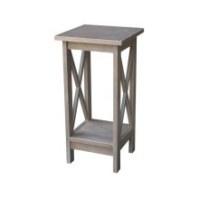 24'' X Side Plant Stand in Taupe Gray