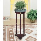 Traditional Merlot Round Plant Stand Product Image