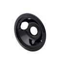 Smart Choice 6'' Black Porcelain Drip Bowl, Fits Specific Product Image