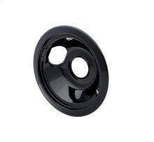 Smart Choice 6'' Black Porcelain Drip Bowl, Fits Specific